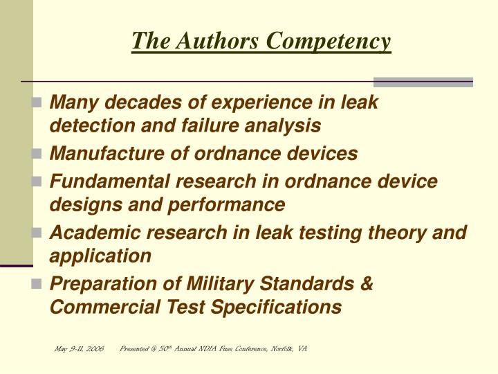 The Authors Competency