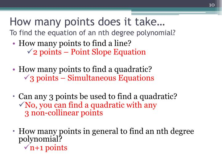 How many points does it take…