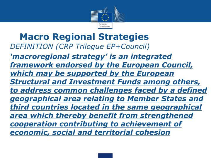 Macro Regional Strategies