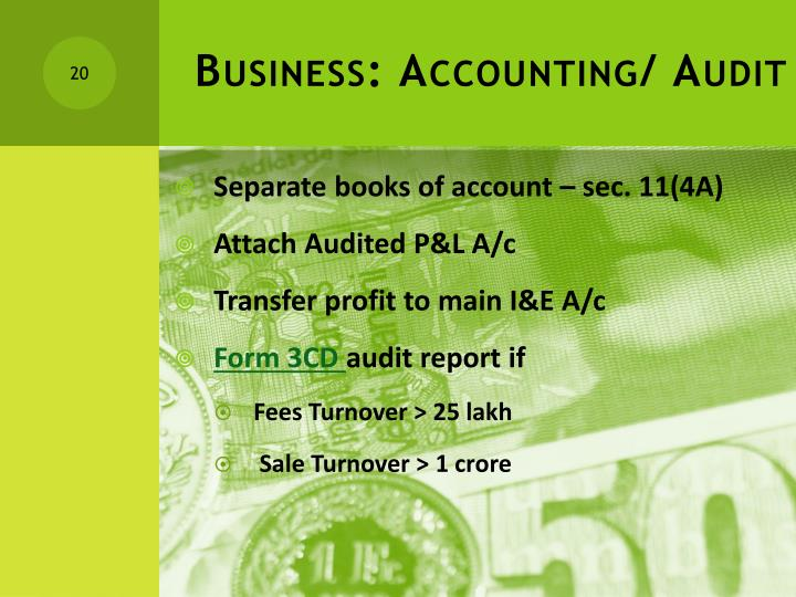 Business: Accounting/ Audit