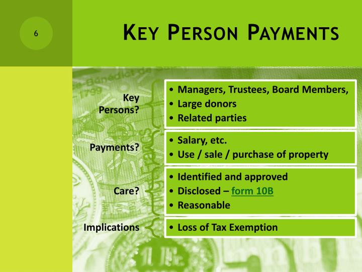 Key Person Payments