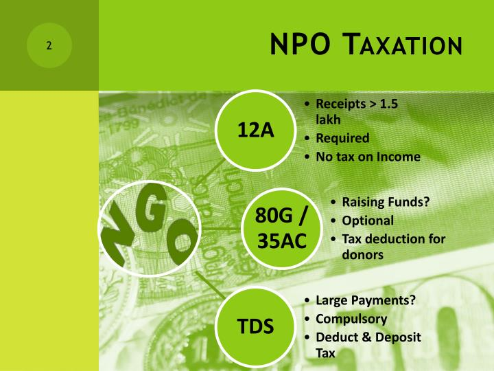 Npo taxation