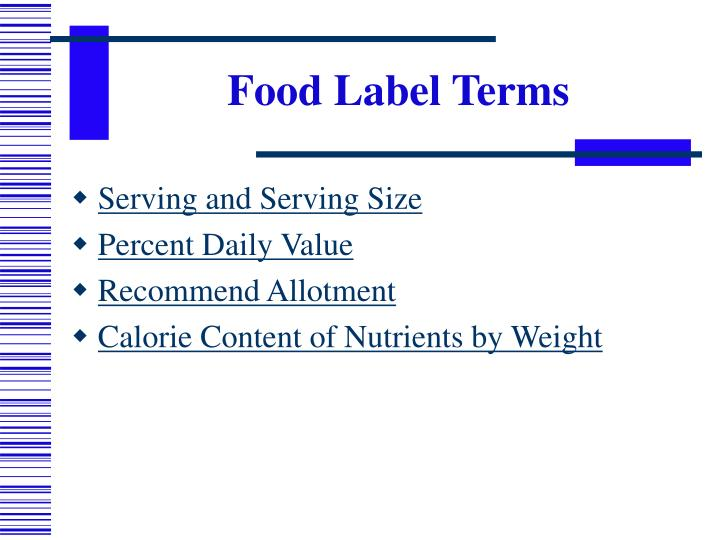 Food Label Terms