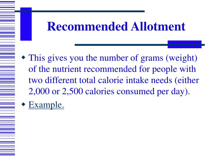 Recommended Allotment
