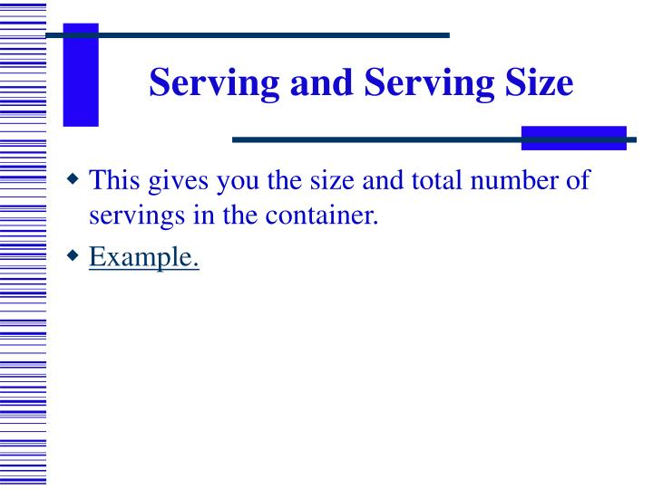 Serving and Serving Size