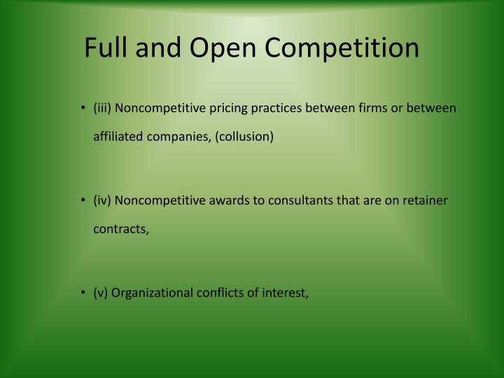 Full and Open Competition
