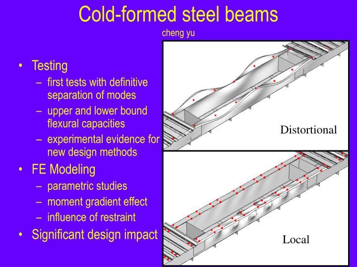 Cold-formed steel beams