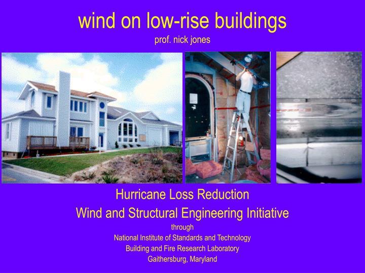 wind on low-rise buildings