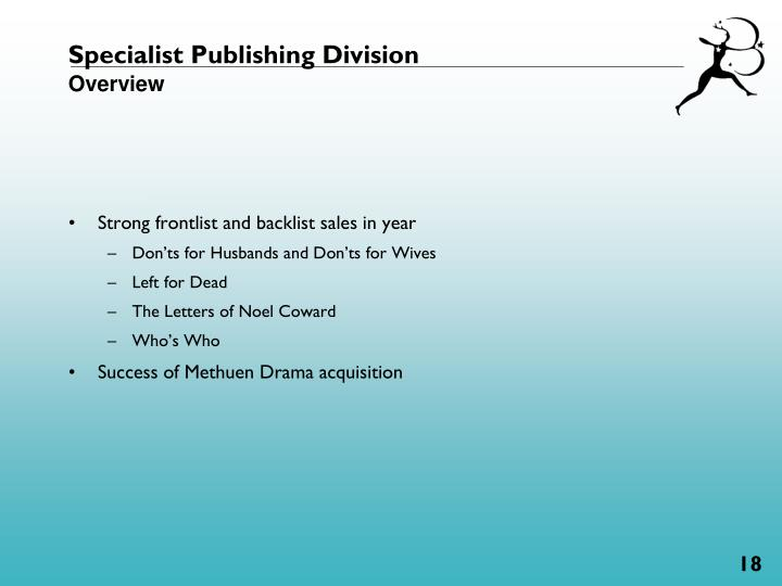 Specialist Publishing Division
