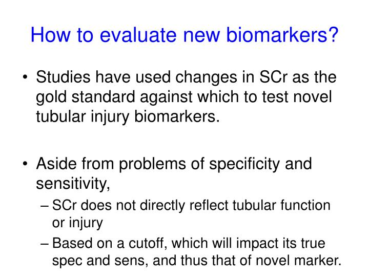 How to evaluate new biomarkers?