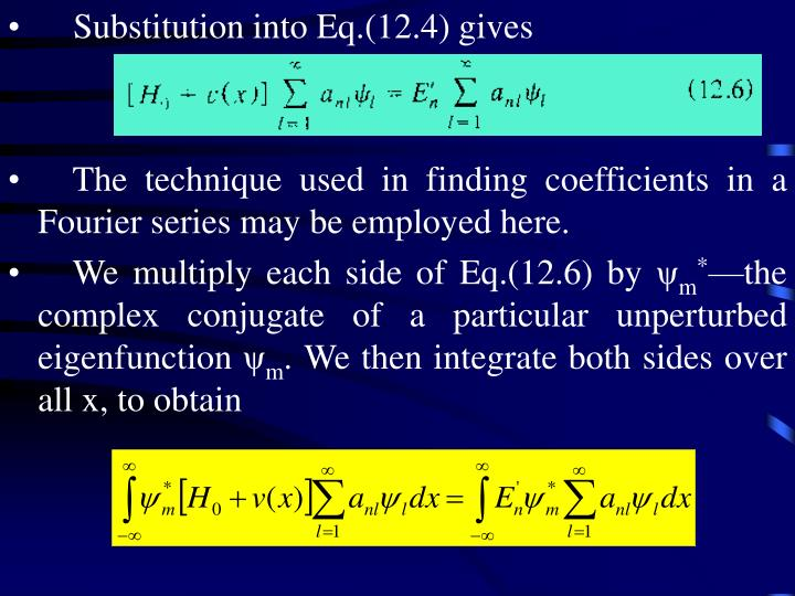 Substitution into Eq.(12.4) gives