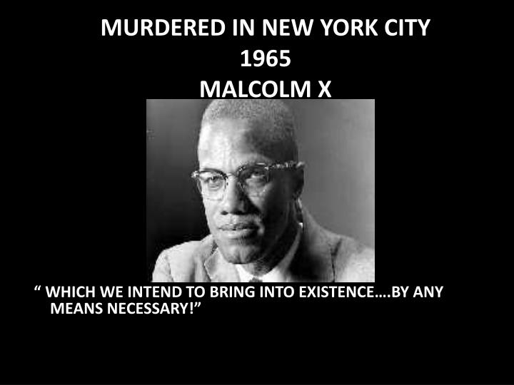 MURDERED IN NEW YORK CITY