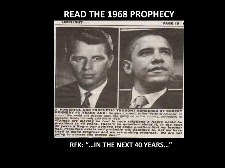 READ THE 1968 PROPHECY