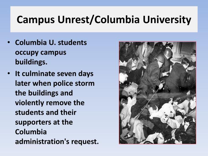 Campus Unrest/Columbia University