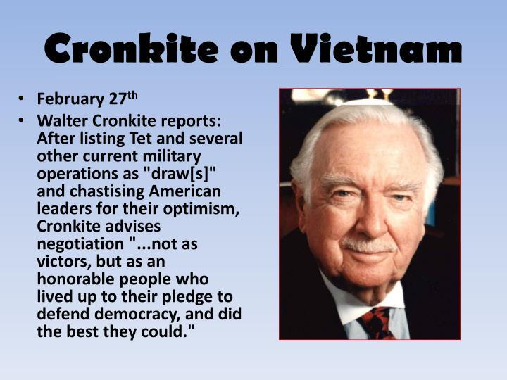 Cronkite on Vietnam