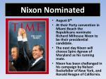 nixon nominated