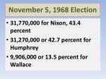 november 5 1968 election