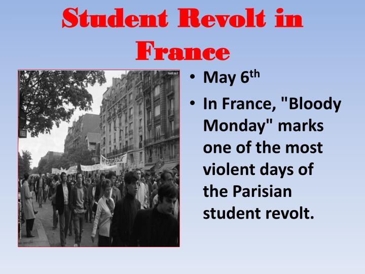 Student Revolt in France