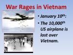 war rages in vietnam