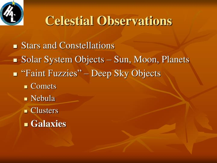 Celestial observations