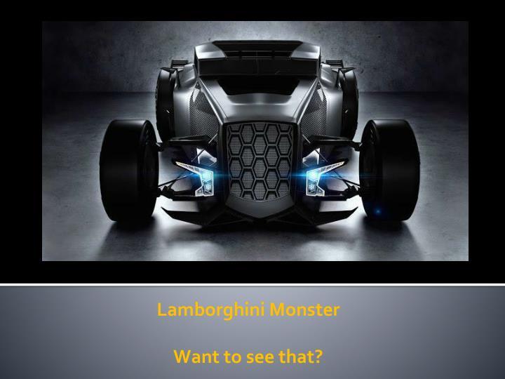 Lamborghini Monster