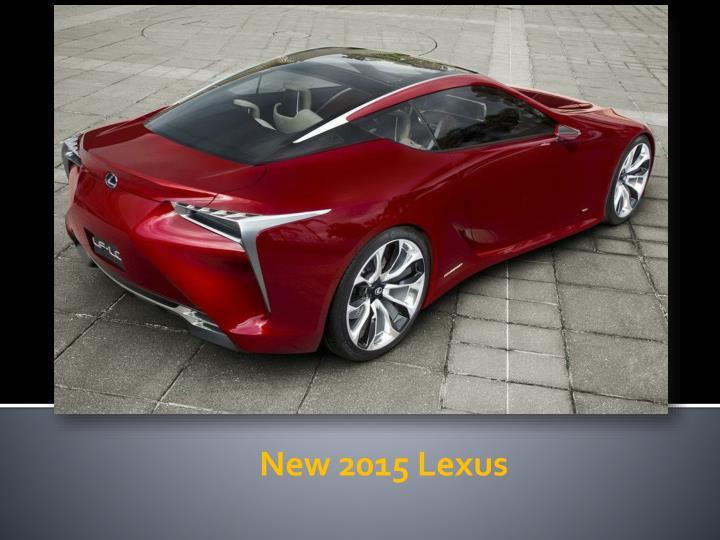 New 2015 Lexus