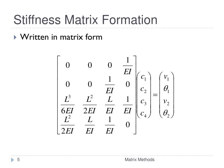 Stiffness Matrix Formation