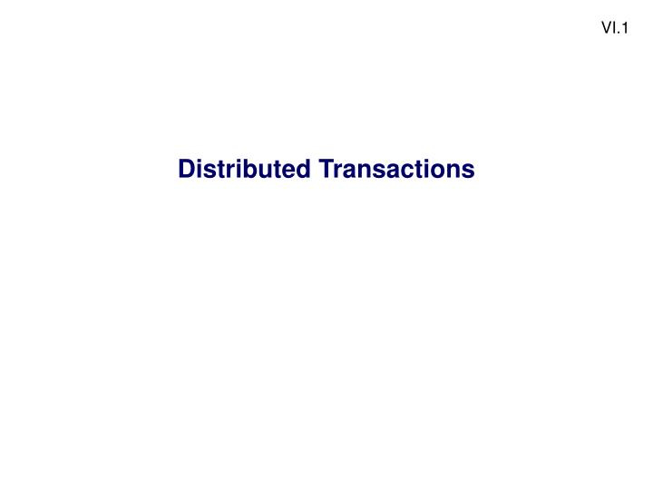 Distributed transactions