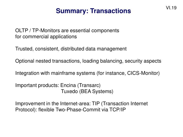Summary: Transactions