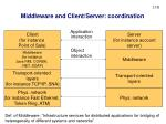 middleware and client server coordination