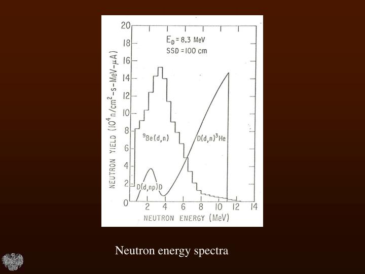 Neutron energy spectra