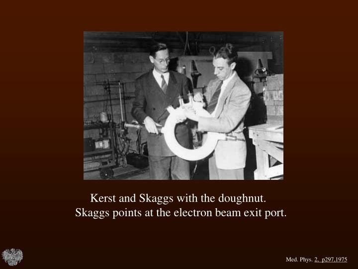 Kerst and Skaggs with the doughnut.