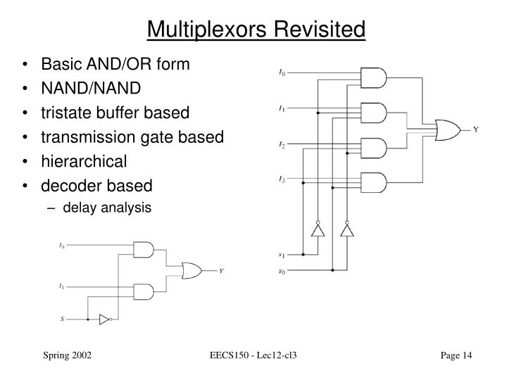 Multiplexors Revisited