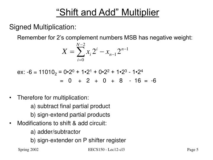 """Shift and Add"" Multiplier"