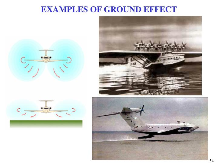 EXAMPLES OF GROUND EFFECT