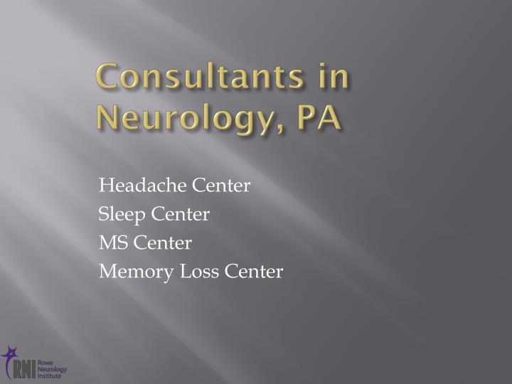 Consultants in Neurology, PA
