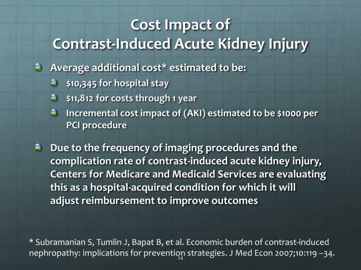 Cost Impact of