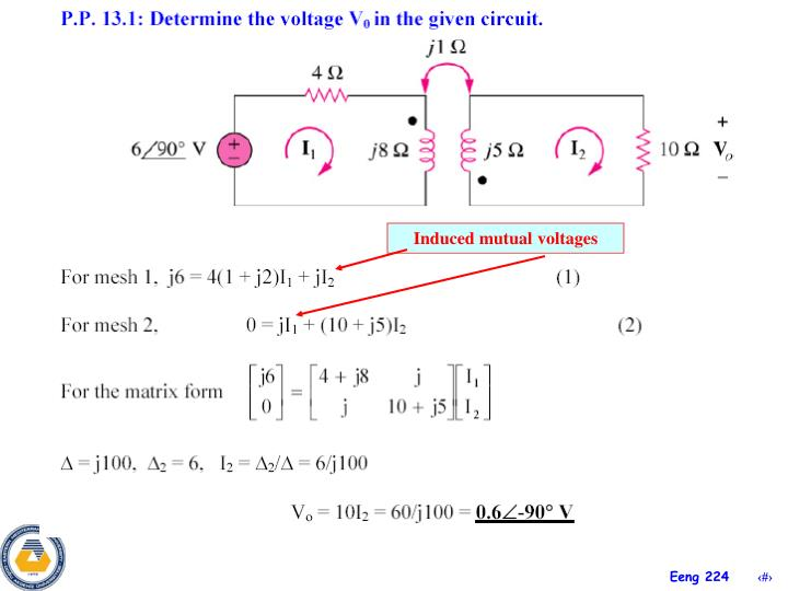 Induced mutual voltages