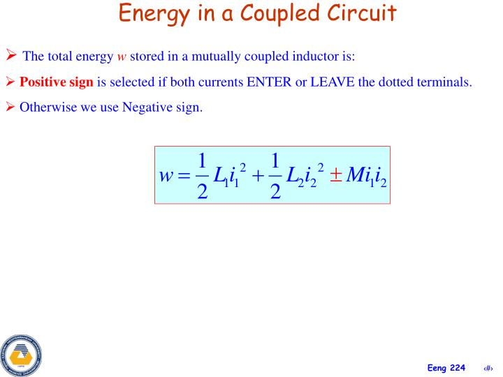 Energy in a Coupled Circuit