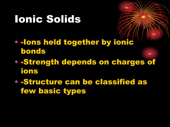 Ionic Solids
