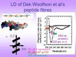 ld of dek woolfson et al s peptide fibres