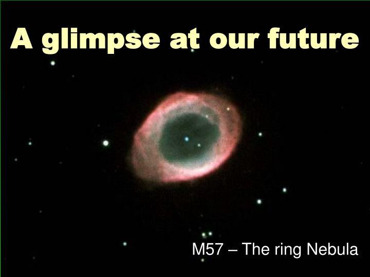 A glimpse at our future