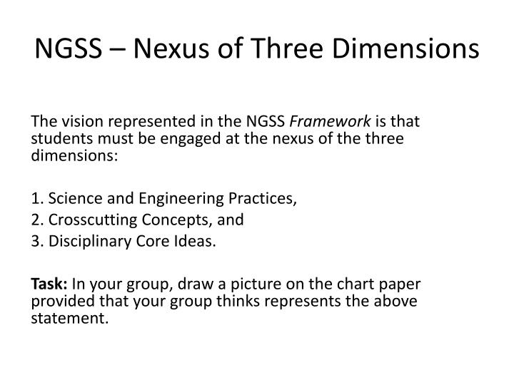 Ngss nexus of three dimensions