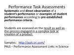 performance task assessments