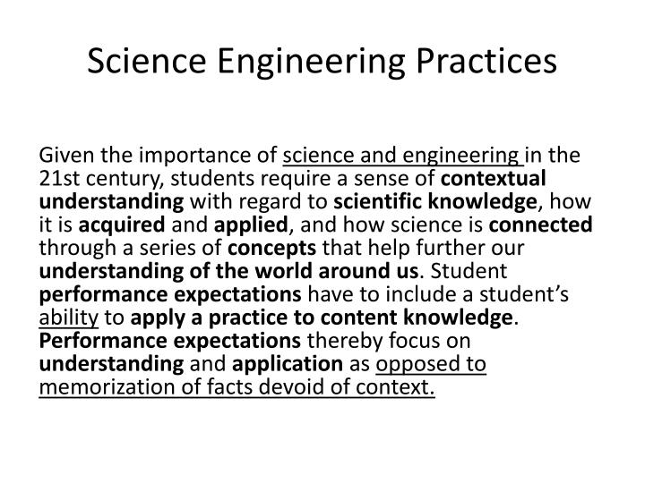 Science Engineering Practices