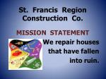 st francis region construction co
