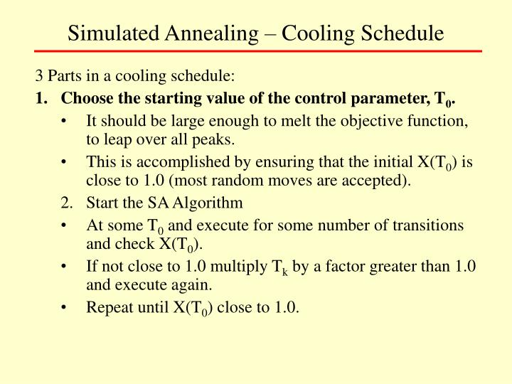 Simulated Annealing – Cooling Schedule