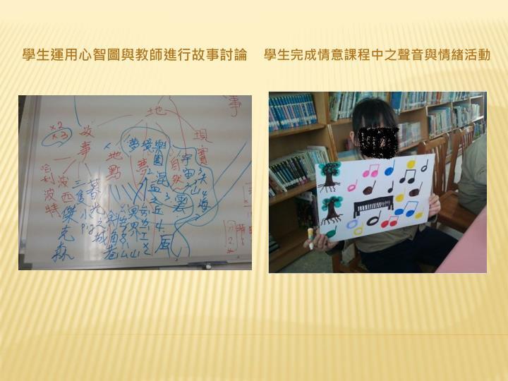 學生運用心智圖與教師進行故事討論