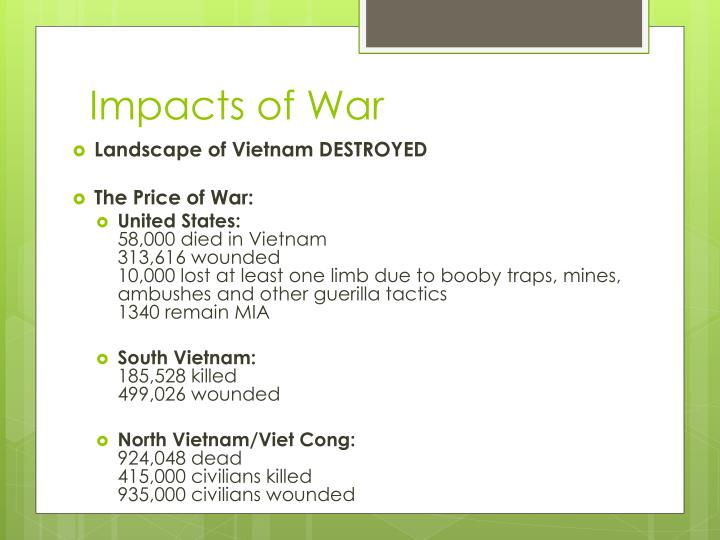 Impacts of War