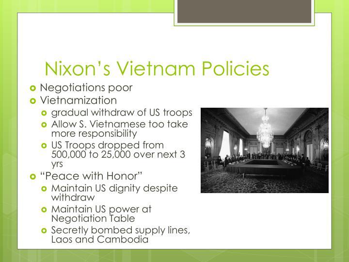 Nixon's Vietnam Policies